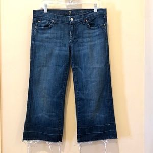 7 For All Mankind • Cropped Distressed Dojo Jean